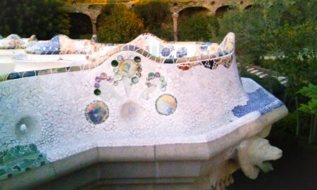 dettaglio balcone, Parc Güell di Gaudì