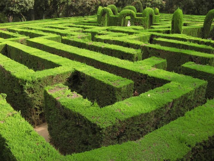 Parco - Parc del Laberint d'Horta, dettaglio del labirinto