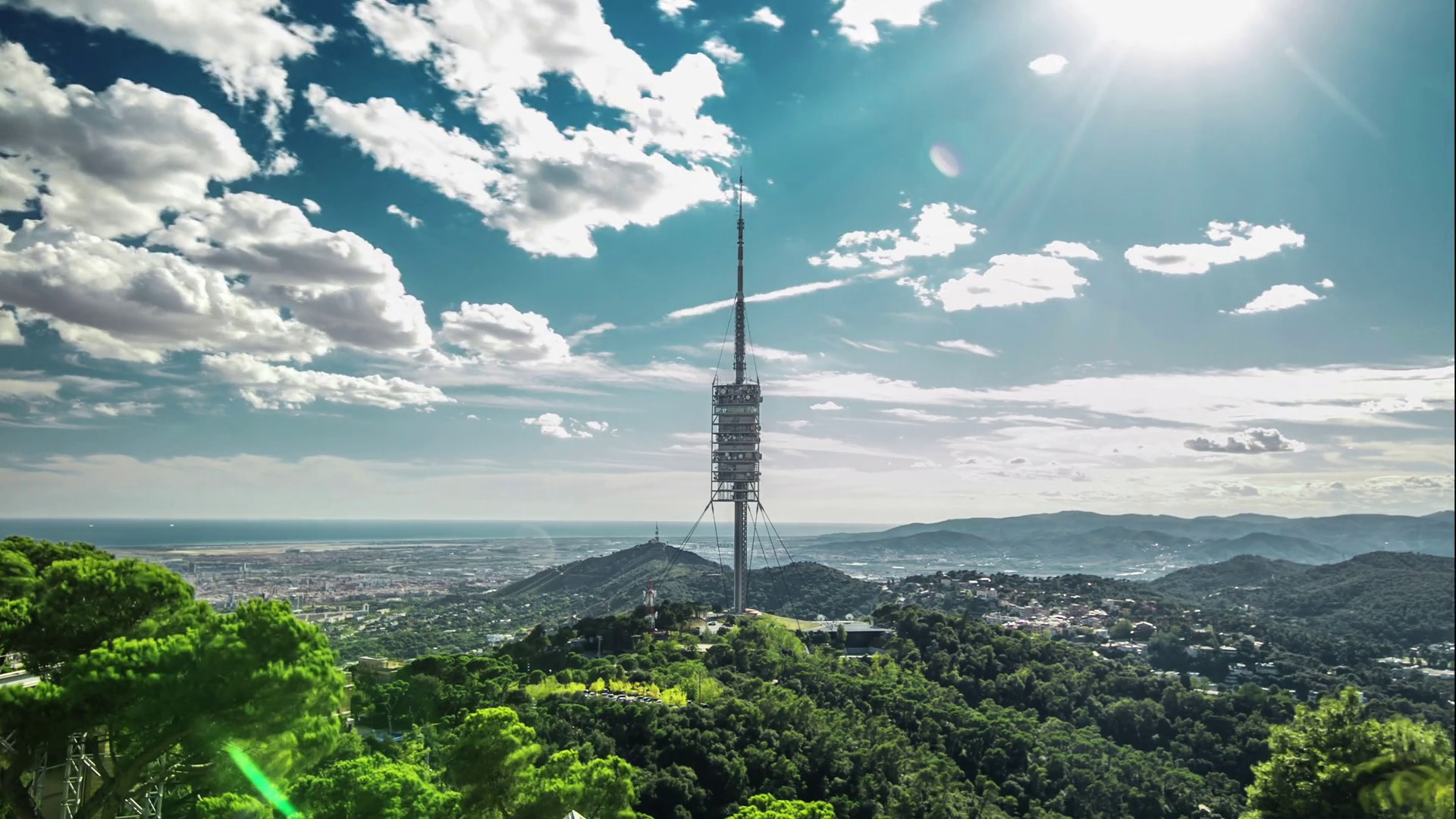 Timelapse Of Torre De Collserola From Tibidabo Mountain Barcelona Spain Rx5pjnhbg Thumbnail Full01