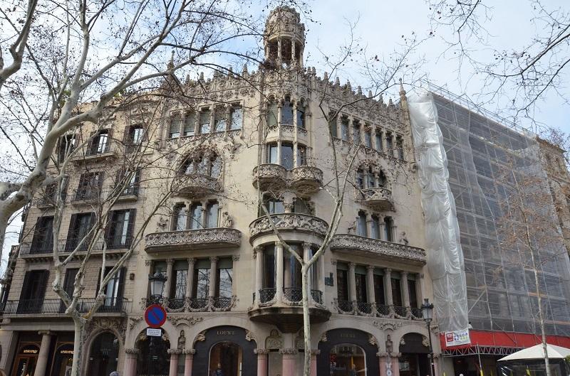Casa Lleo Morera - facciata della casa