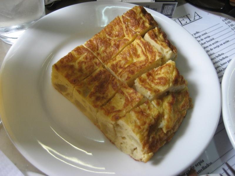 Tortilla de patatas, cucina spagnola