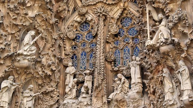 Sagrada Familia Gaudí - particolare della chiesa