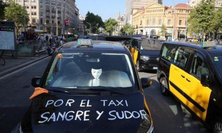 Uber Cabify Barcellona - proteste dei tassisti