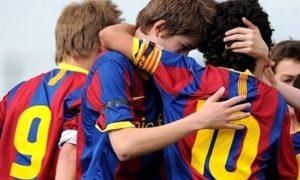 Foto dei ragazzi della Cantera Del Barcellona