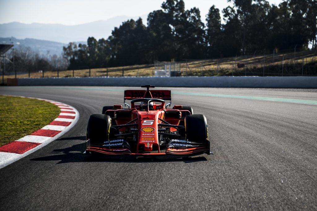Prova della Ferrari per il Gran Premio di Spagna