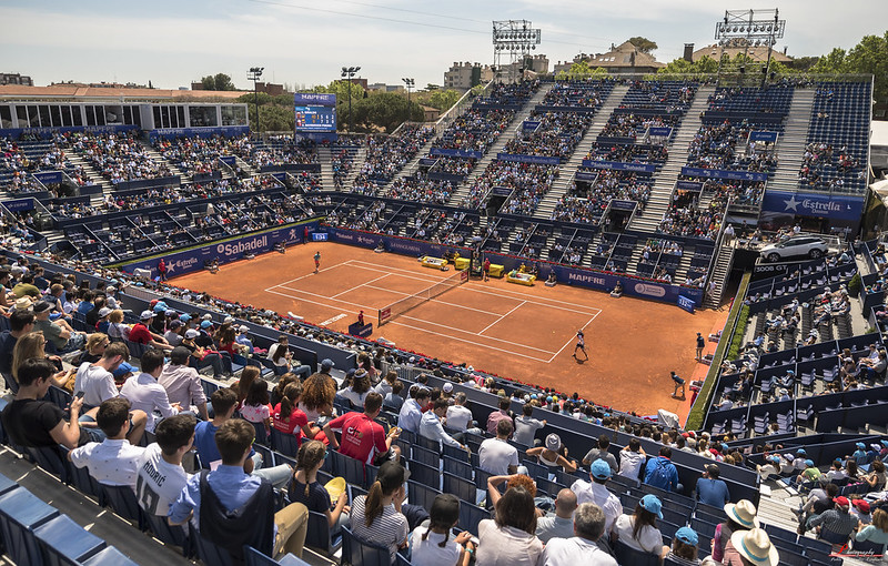Disputa del Barcelona Open Banc Sabadell al Real Club Tenis Barcelona