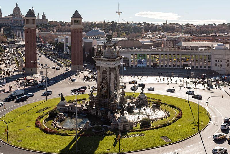 punti panoramici di barcellona: Vista dal centro commerciale Las Arenas