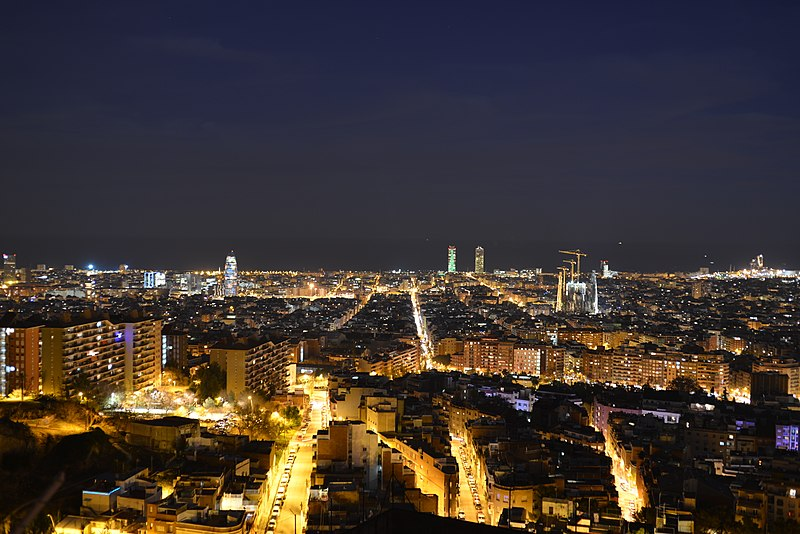 punti panoramici di barcellona: Vista panoramica della città Dal Turo De La Rovira