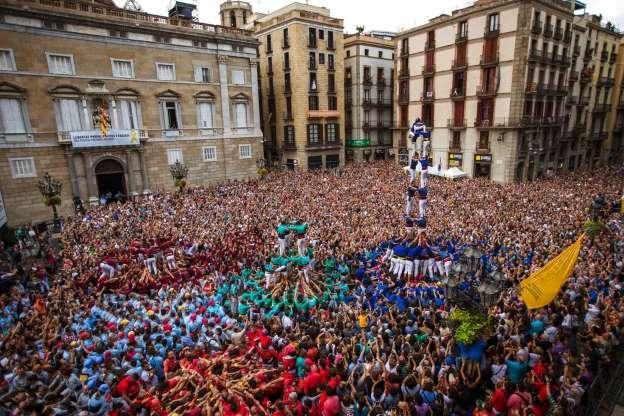 Torri Umane nelle feste di Barcellona e dintorni