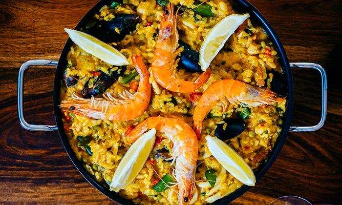 Dove mangiare la paella a Barcellona-paella di pesce