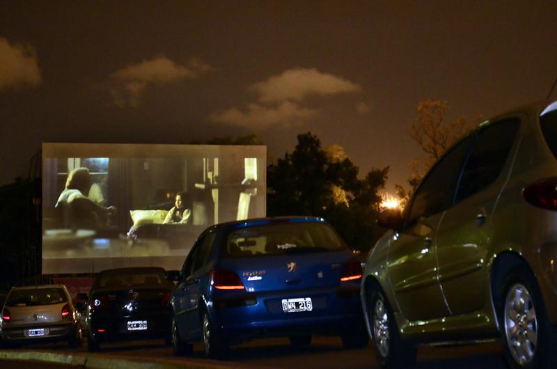 autocine di Barcellona-cinema in auto