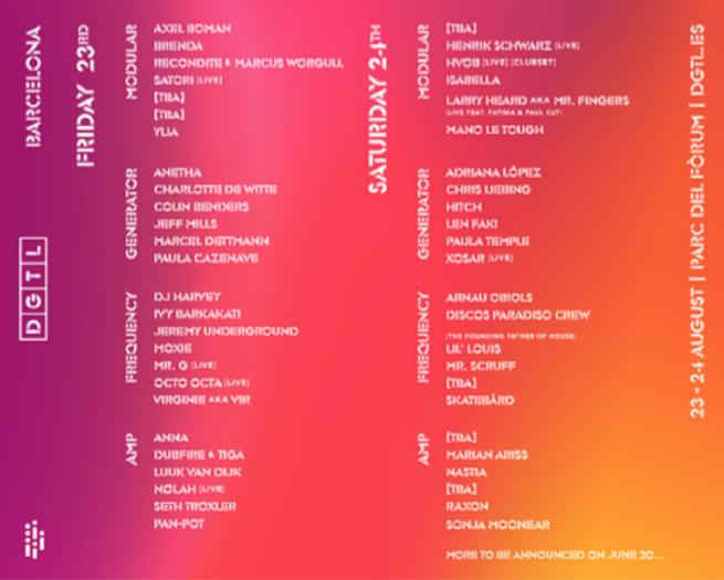 DGTL Barcelona 2019-Line Up