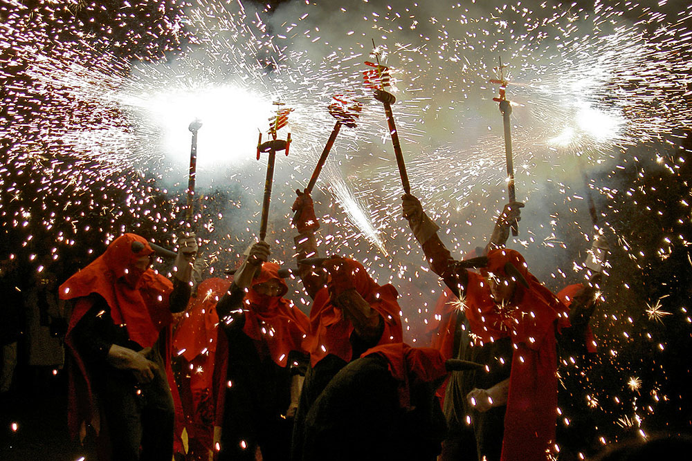 Festa Major de Gracia-Giochi Pirotecnici per la festa
