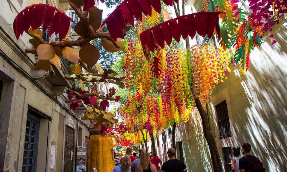 Festa Major de Gracia-vie decorate per la festa