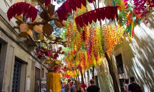 Festa Major de Gracia-vie decorate per la festa