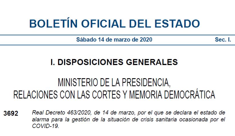 Stato d'emergenza-Decreto