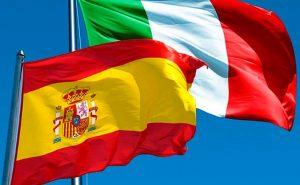 pandemia-Spagna E Italia Bandiera