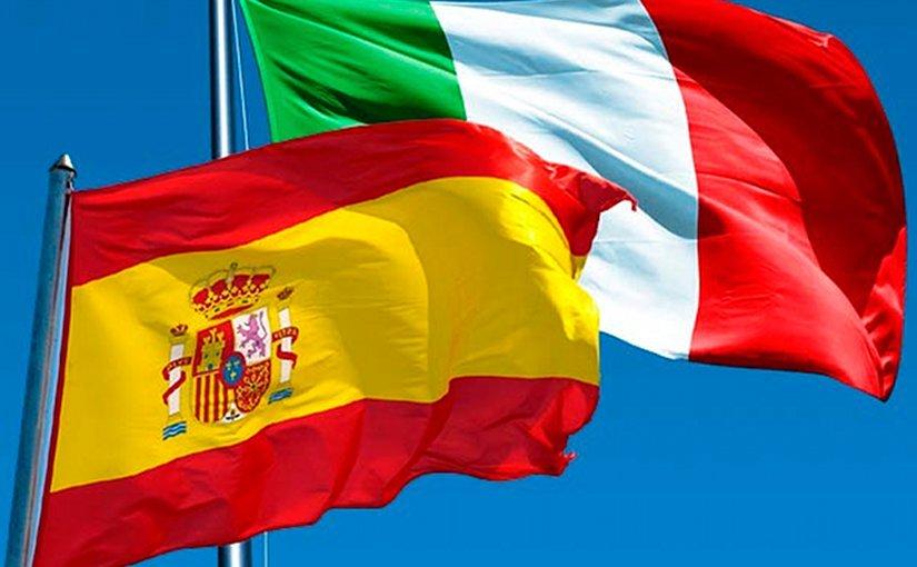 fase 2-Spagna E Italia Bandiera