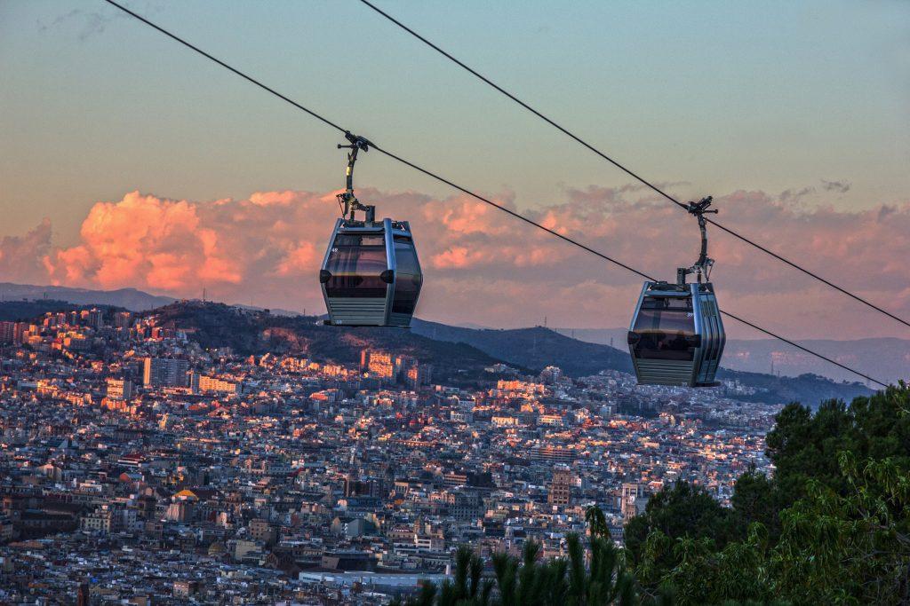 Il teleferico di Montjuic riapre con viaggi gratis