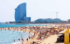 accesso controllato-spiaggia Barceloneta