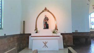 Immagine di Don Orione che si trova nella Chiesa di Claypole, Buenos Aires.
