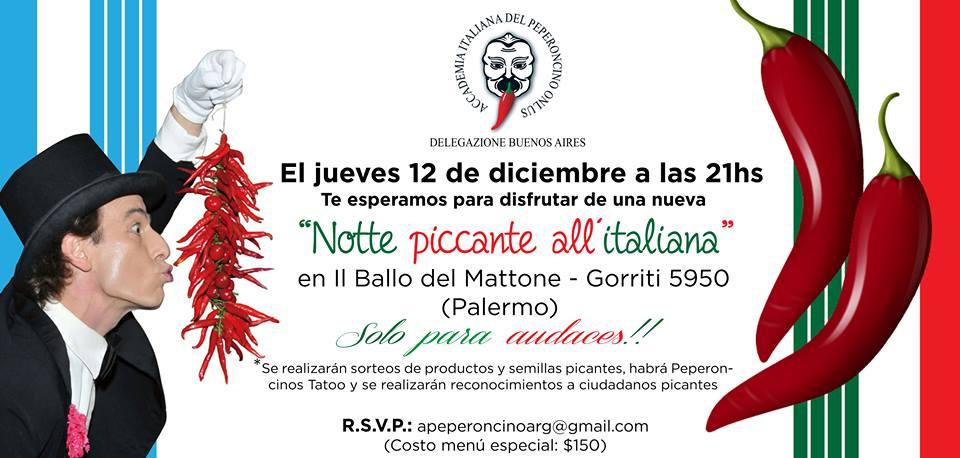 Flyer cena Accademia del Peperoncino