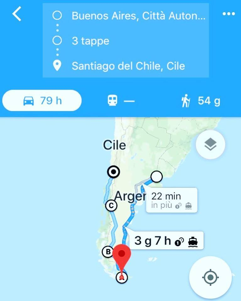 Il percorso di Sebastiano Coco in Argentina.