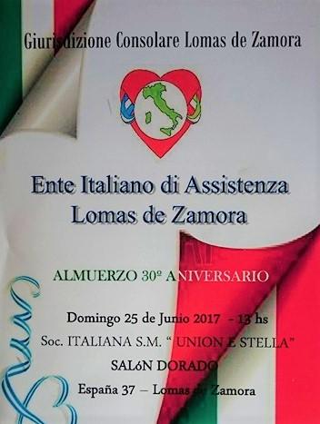 Nell'anno 2017 – in occasione del suo 30 anniversario – l'ENITAS ha deciso di tenere una commemorazione speciale organizzando un pranzo. ENITAS Lomas de Zamora