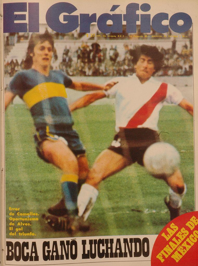 Rivista sportiva del 1975 sul Superclásico