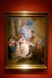 """Giovanni Battista Tiepolo, """"La Vergine esortando Santa Teresa affinché nomini San Giuseppe protettore dell'Ordine Carmelitano"""""""