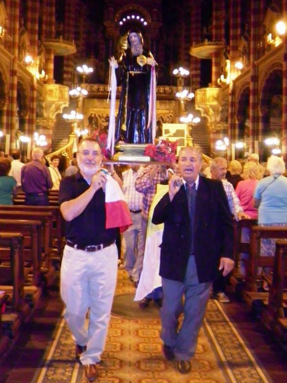 Roberto Carolei con San Francesco.