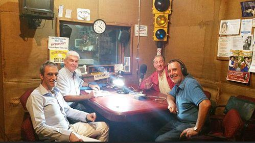 Roberto Carolei en la radio.