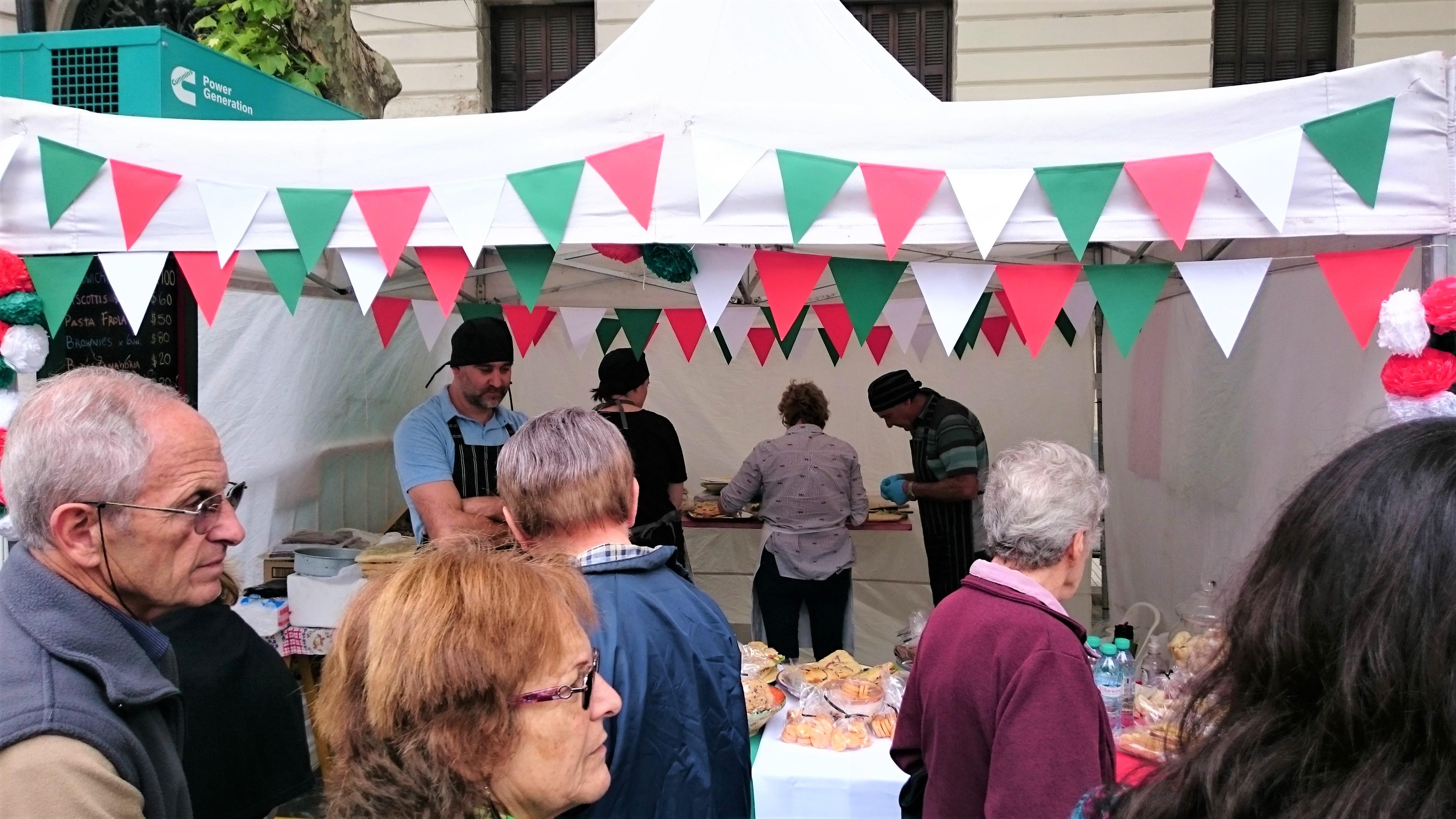 Gastronomía en el evento
