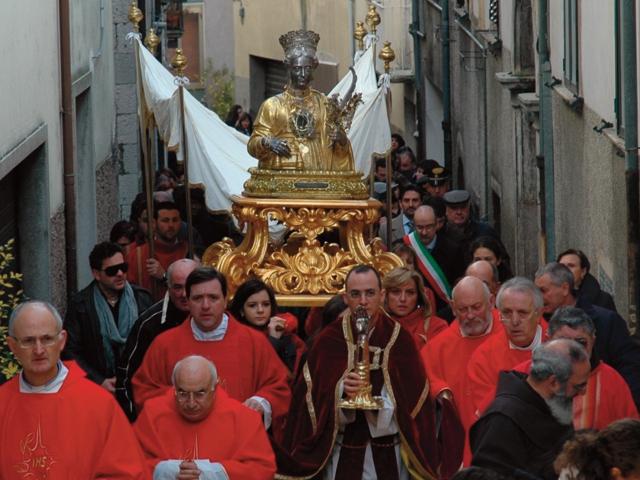 Festejos en Sepino, Italia.