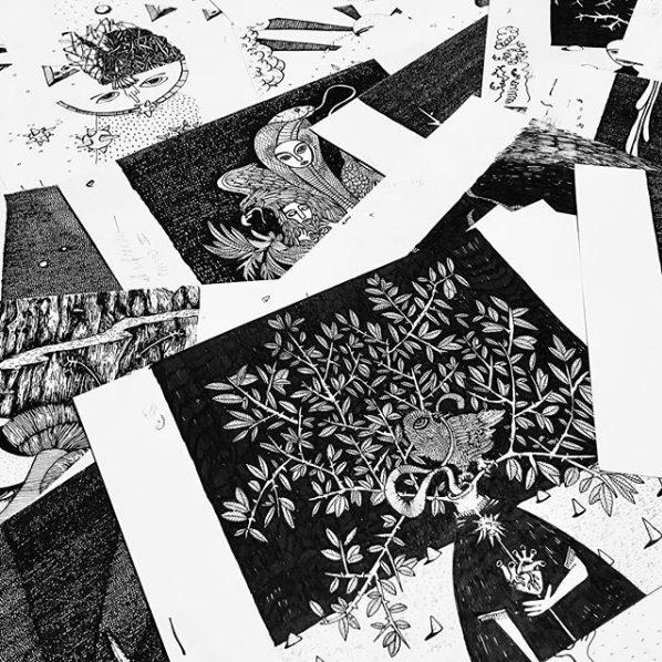 Maru Ceballos - Los bocetos de la muestra