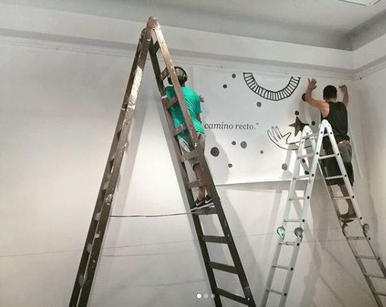 Maru Ceballos - Los preparativos de la muestra en el Mitre