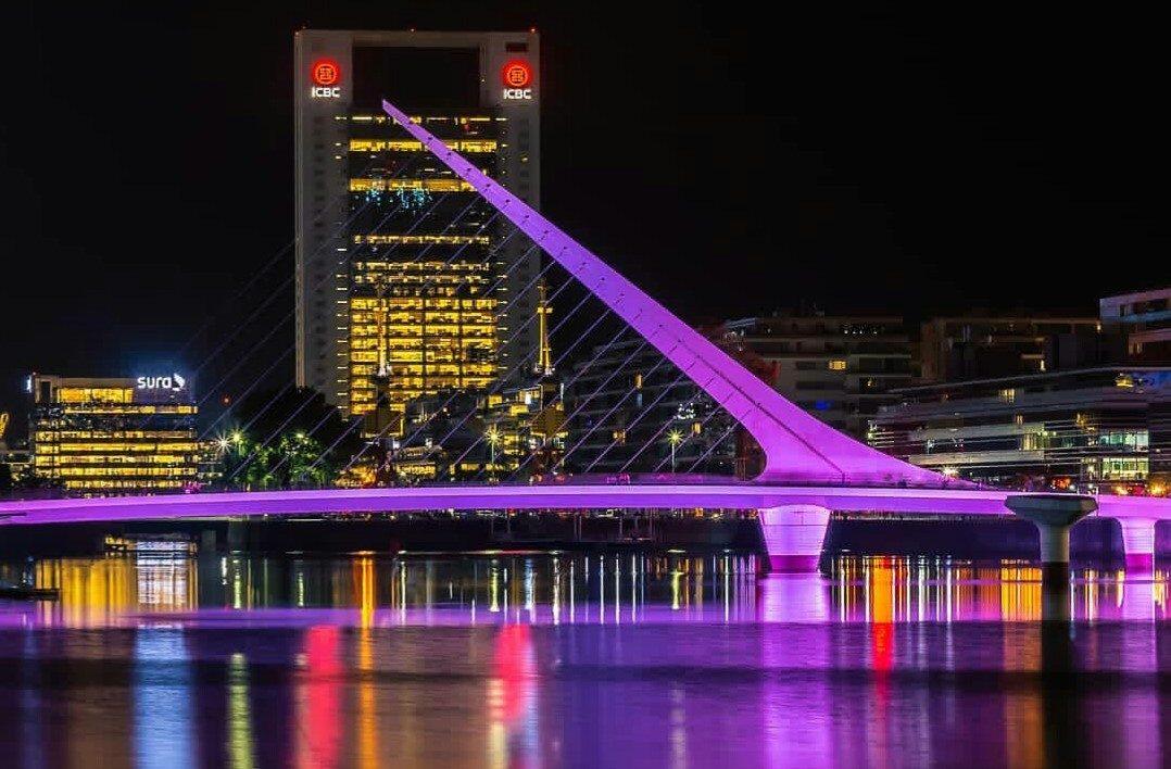 El Puente de la Mujer: uno de los íconos más lindos de la ciudad