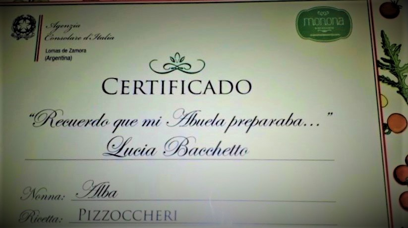 Recetas Italianas - Certificado