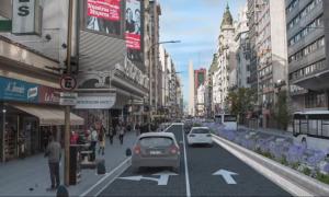 Avenida Corrientes - 2 carriles de la Avenida Corrientes serán peatonales entre las 19 y las 2.