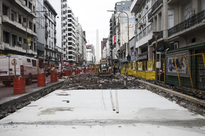 Avenida Corrientes - Las obras comenzaron en 2018 y concluyeron un año después.