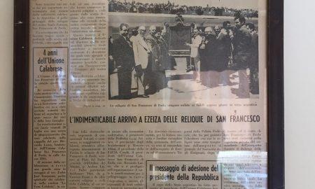 Unión Calabresa - En 1976 llegaron al país las reliquias de San Francisco de Paola