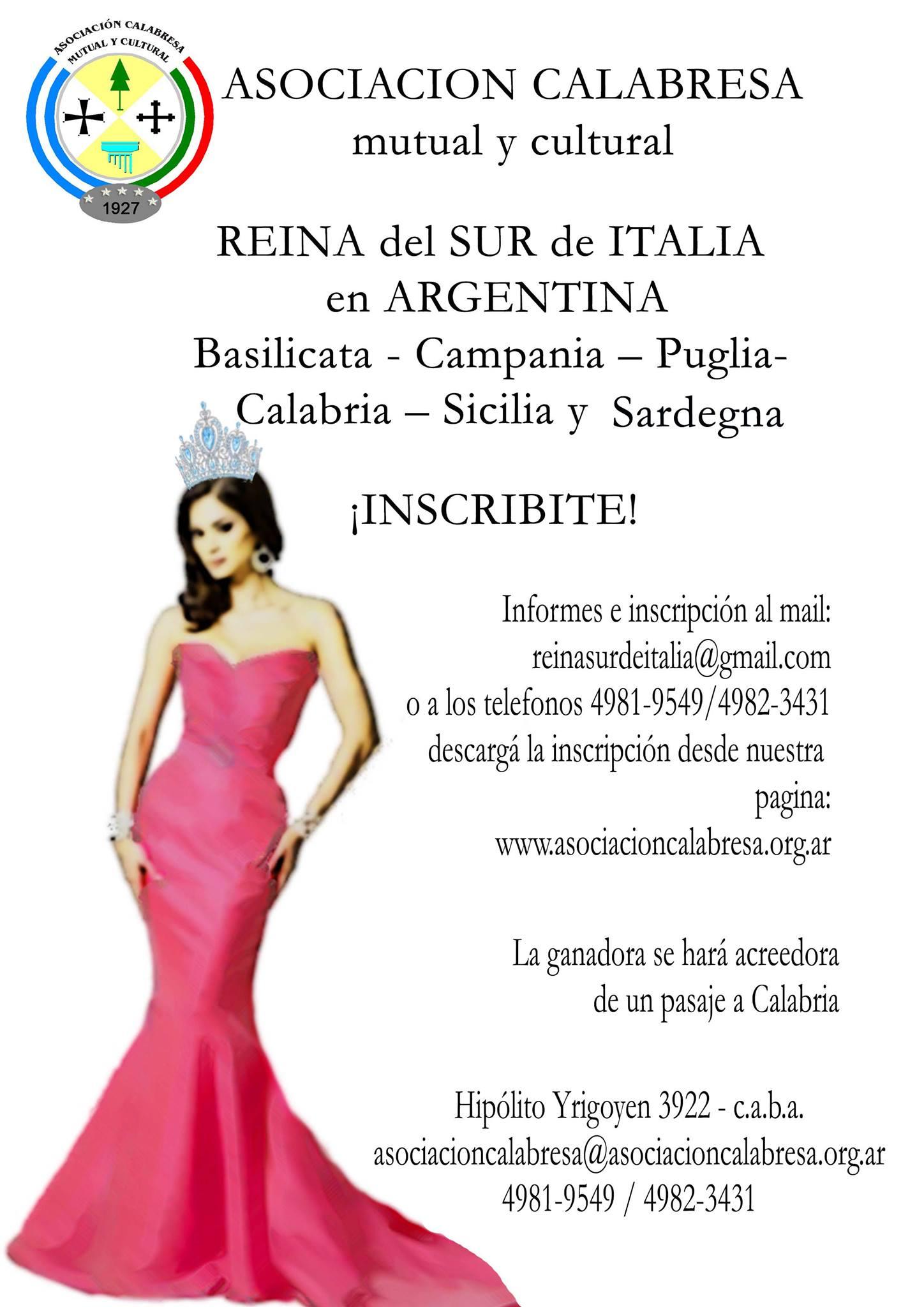 Reina Del Sur De Italia - Certamen Reina Del Sur De Italia