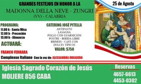 Madonna Della Neve - La fiesta se celebra el 25 de agosto