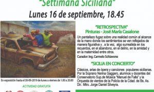 Settimana Siciliana en la Dante - Publicidad