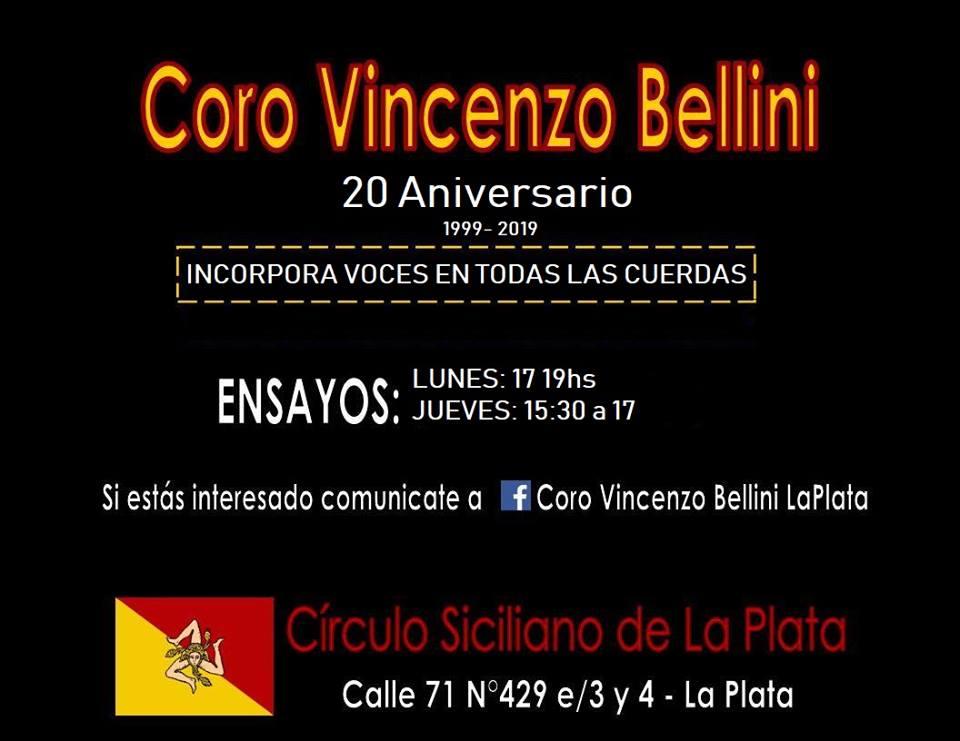 Coro Vincenzo Bellini - Convocatoria para integrar nuevas voces