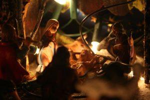 Navidad - El pesebre representa el nacimiento de Jesús.