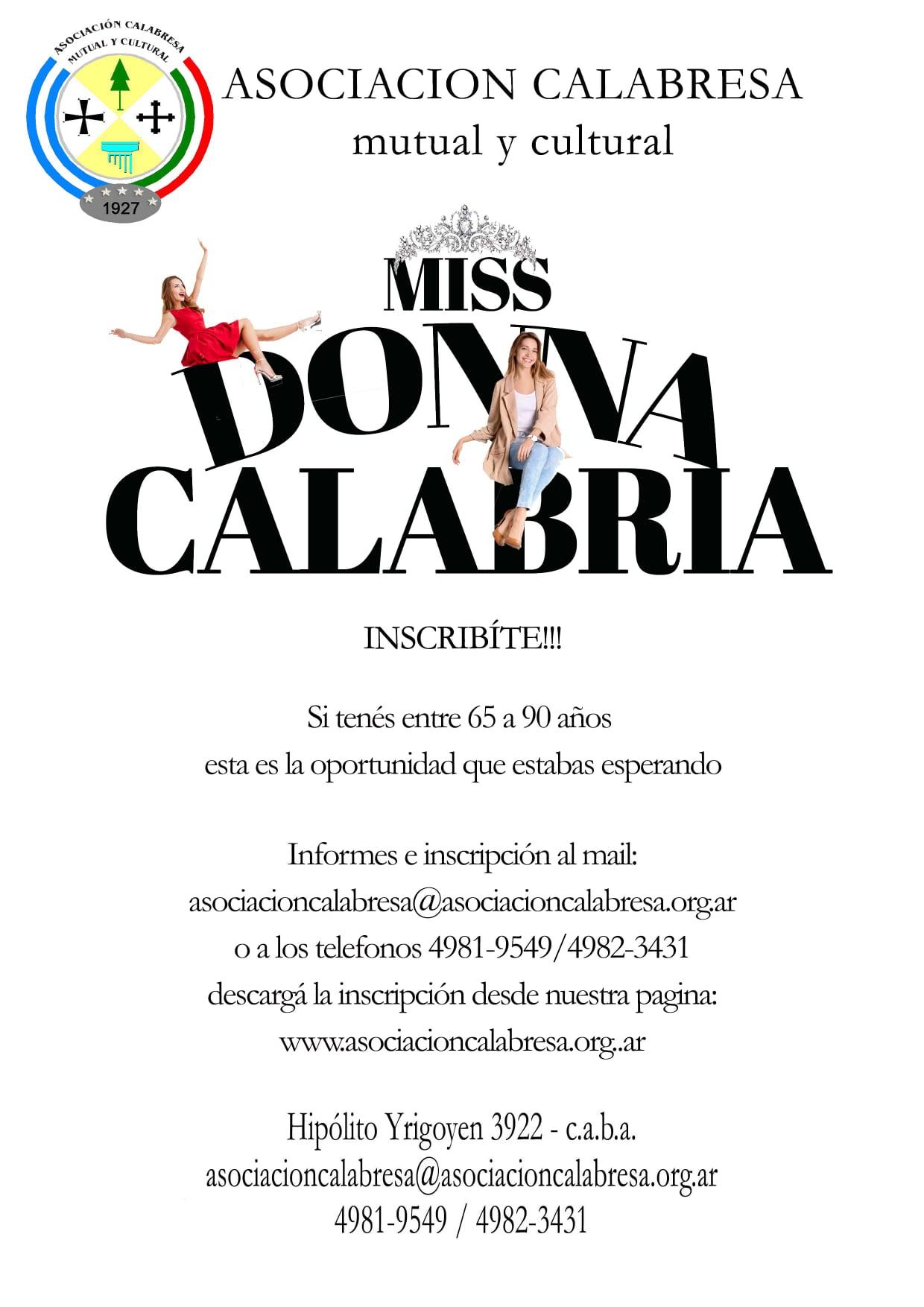 Miss Donna Calabria - Miss Donna Calabria Concurso