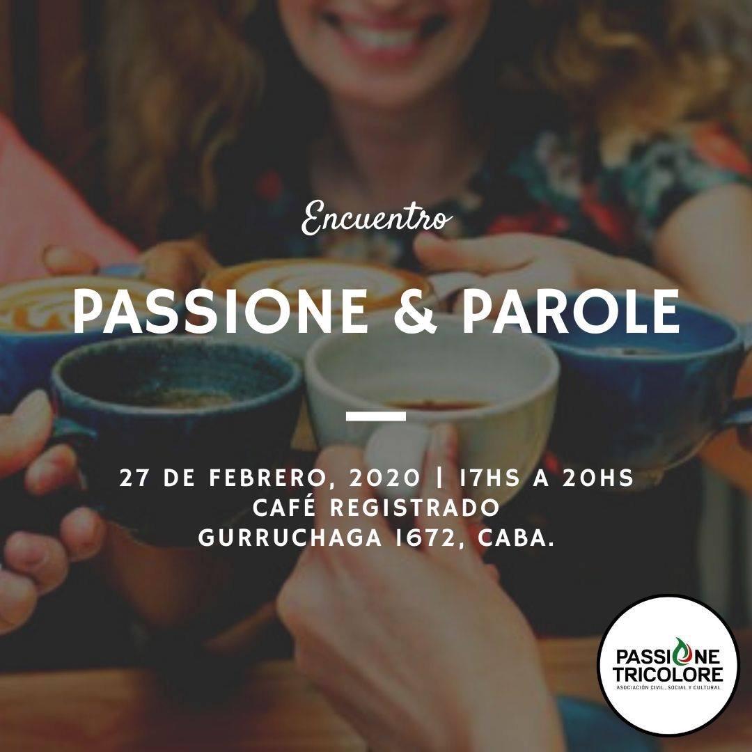 Passione Tricolore - Evento Flyer Passione Y Parole