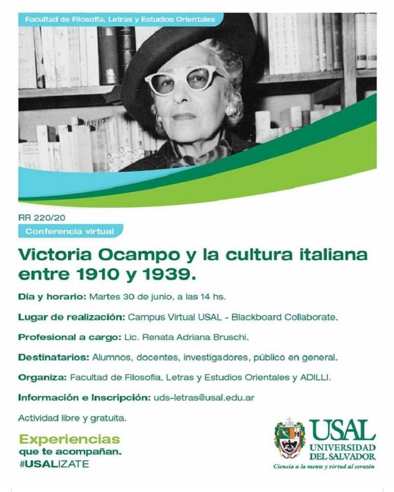 Flyer Victoria Ocampo