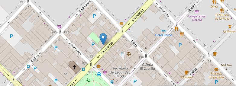 Colegio Nacional de Buenos Aires -Mapa